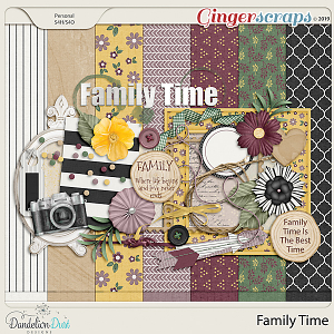 Family Time Digital Scrapbook Kit by Dandelion Dust Designs