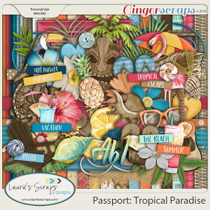 Passport: Tropical Paradise Page Kit