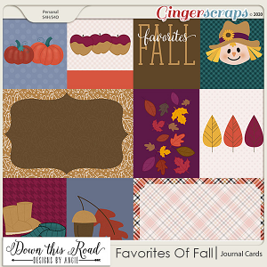 Favorites Of Fall | Journal Cards