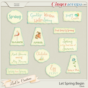 Let Spring Begin Labels