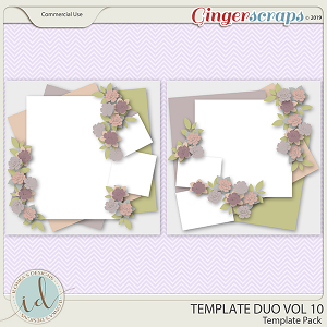 Template Duo Vol 10 by Ilonka's Designs
