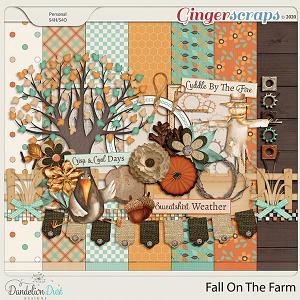 Fall On The Farm Digital Scrapbook Kit By Dandelion Dust Designs