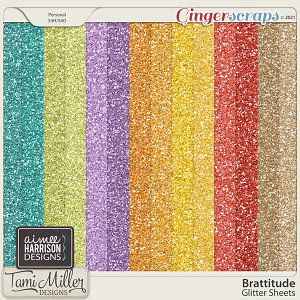 Brattitude Glitter Sheets by Aimee Harrison and Tami Miller