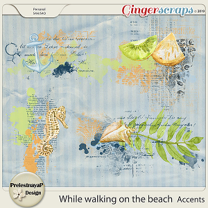 While walking on the beach Accents