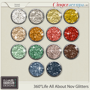 360°Life All About November Glitters by Aimee Harrison