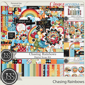Chasing Rainbows Digital Scrapbooking Bundle