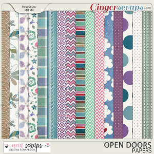 Open Doors - Patterned Papers - by Neia Scraps