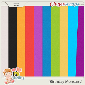 Birthday Monsters Solid Papers