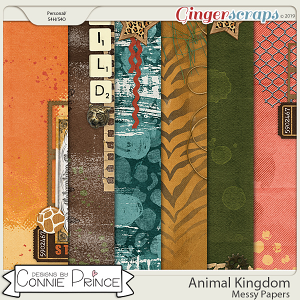 Animal Kingdom - Messy Papers by Connie Prince