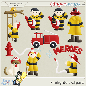 Doodles By Americo: Firefighters Cliparts
