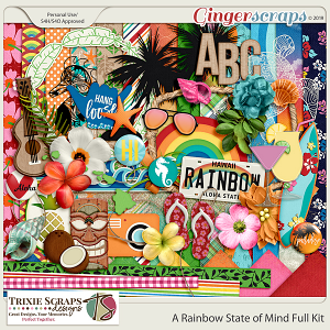 A Rainbow State of Mind Kit by Trixie Scraps Designs
