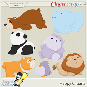 Doodles By Americo: Happy Cliparts