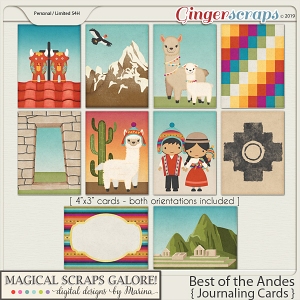 Best of the Andes (journaling cards)