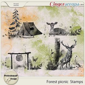 Forest picnic Stamps