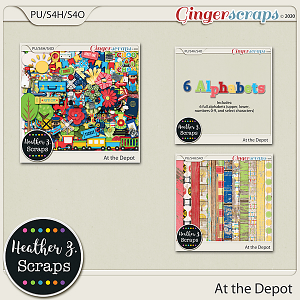 At the Depot BUNDLE by Heather Z Scraps