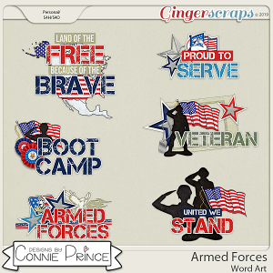 Armed Forces - Word Art Pack by Connie Prince
