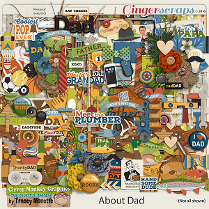 About Dad Mega Kit by Clever Monkey Graphics