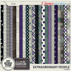 Extraordinary People Papers by JB Studio & Aimee Harrison