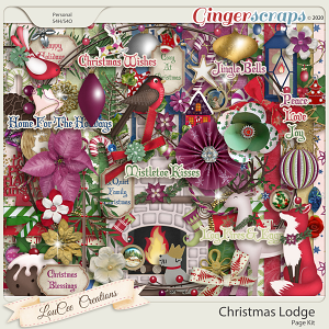 Christmas Lodge by LouCee Creations