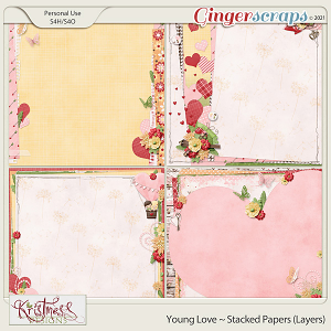 Young Love Stacked Papers (Layers)