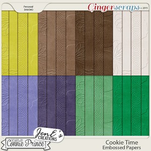Cookie Time - Embossed Papers