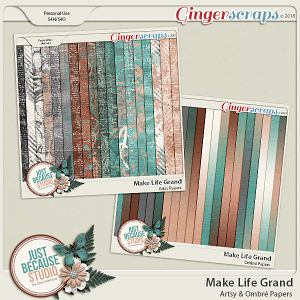 Make Life Grand Artsy and Ombre Papers by JB Studio