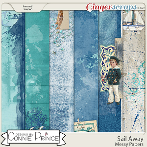 Sail Away - Messy Papers by Connie Prince
