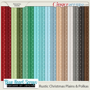 Rustic Christmas Plain and Polka Papers