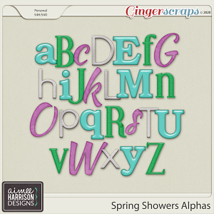 Spring Showers Alpha Sets by Aimee Harrison