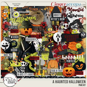 A Haunted Halloween - Page Kit - by Neia Scraps