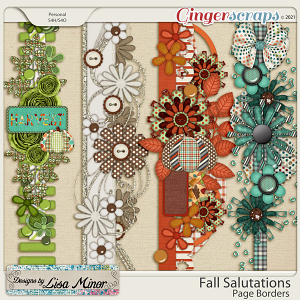 Fall Salutations Page Borders from Designs by Lisa Minor