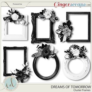 Dreams Of Tomorrow Cluster Frames by Ilonka's Designs