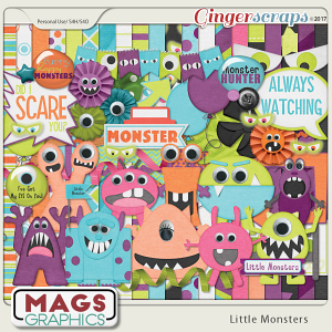 Little Monsters KIT by MagsGraphics