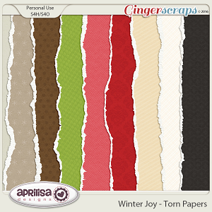 Winter Joy - Torn Papers by Aprilisa Designs