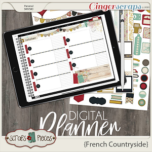 French Countryside Planner Pieces - Scraps N Pieces