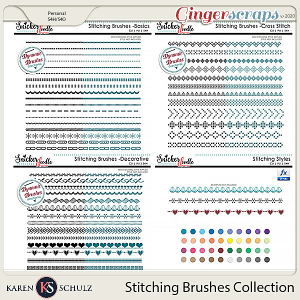 Stitching Brushes Bundle by Karen Schulz