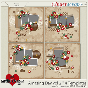 Amazing Day vol2 4 Templates by CarolW Designs