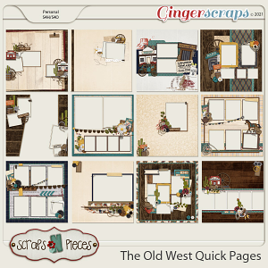 The Old West Quick Pages by Scraps N Pieces