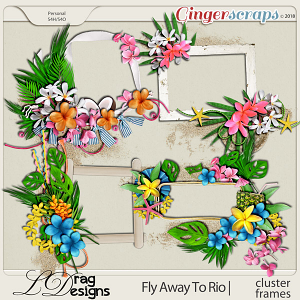 Fly Away To Rio: Cluster Frames by LDragDesigns
