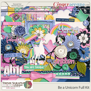 Be a Unicorn Full Kit by Trixie Scraps Designs