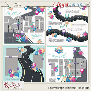 Layered Page Templates ~ Road Trip