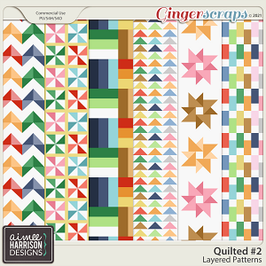 Quilted #2 Layered Patterns by Aimee Harrison