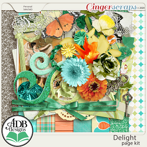 Delight Page Kit by ADB Designs