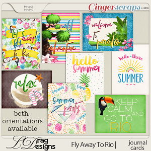 Fly Away To Rio: Journal Cards by LDragDesigns