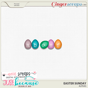 Easter Sunday Alphas by JB Studio and Neia Scraps