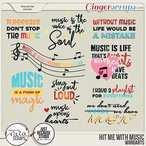 Hit Me with Music - Wordart - by Neia Scraps & JB Studio