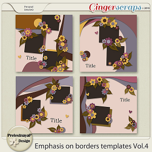 Emphasis on borders Templates Vol.4
