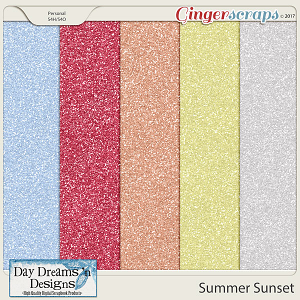 Summer Sunset {Glitter Papers} by Day Dreams 'n Designs