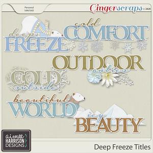 Deep Freeze Titles by Aimee Harrison