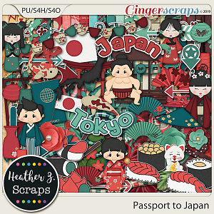 Passport to Japan KIT by Heather Z Scraps